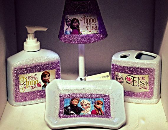 FROZEN BOW - Ana and Elsa Bow - Frozen Birthday - Elsa Bow - Ana Bow -  Frozen Bow - Over the Top Bow - Frozen party - Girls Hair Bows - 20 Best Images About Frozen Bathroom Decor Ideas On Pinterest