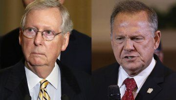 Senate Majority Leader Mitch McConnell says he believes the women who accused Alabama Senate GOP candidate Roy Moore of sexual misconduct. McConnell says Moore should step aside from the Alabama Senate race.  We don't care what  you think McConnell.   Your the one that should step aside