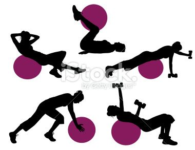 Exercise Ball Silhouette Series stock vector art 5688223 - iStock