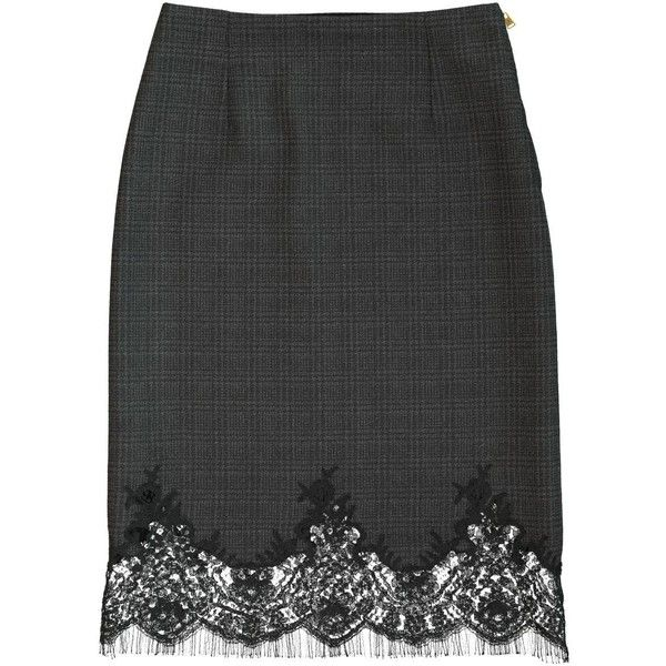 Pre-owned Louis Vuitton Wool Mid-Length Skirt (€285) ❤ liked on Polyvore featuring skirts, black, women clothing skirts, wool skirt, louis vuitton, zipper skirt, mid length skirts and zip skirt