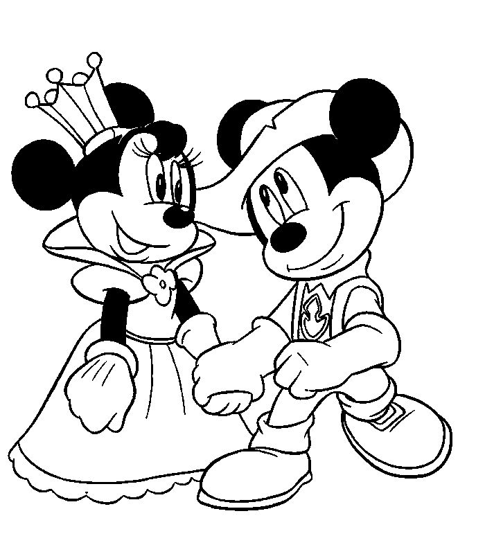 76 best Mickey Mouse & Minnie Coloring Pages images on Pinterest ...