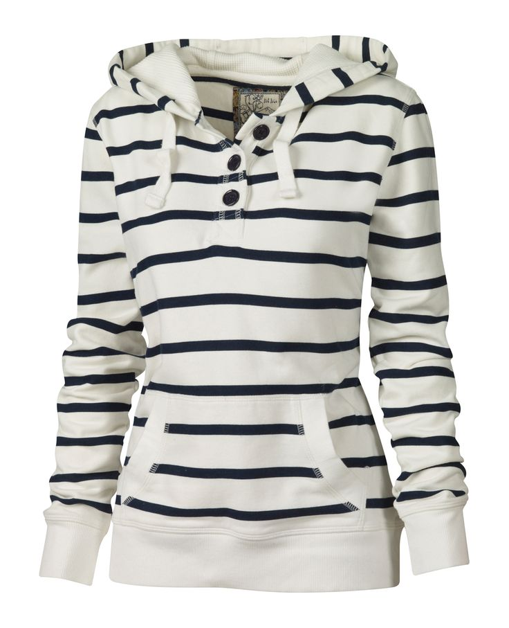 The perfect Nautical Hoodie for a breezy Beach day.