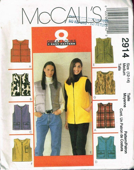 Sewing Pattern McCall/'s 8403 Misses/' Jumper in Two Lengths