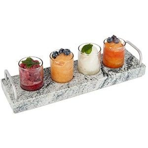 Hostess Gift Etiquette    Chilling Flight  Handmade and Natural Granite that has been upcycled from granite counter tops and each piece unique. Your hostess will be able to keep her guest's drinks cool.