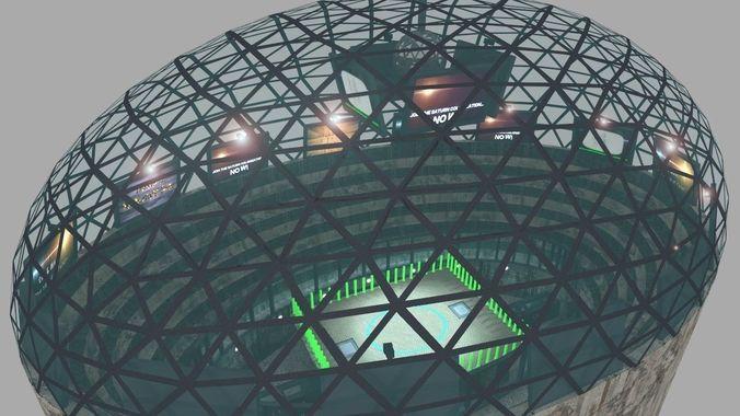 Futuristic Gladiators Arena | 3D Model
