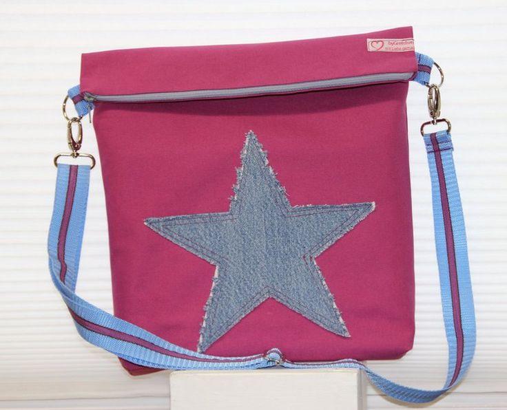 Umhängetasche Stern  dunkel pink von byGretchen auf DaWanda.com