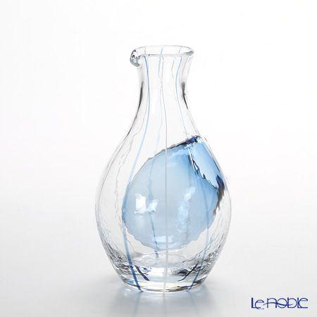 Japanese+Glass+61507+Blue+300+ml+carafe+cold+sake