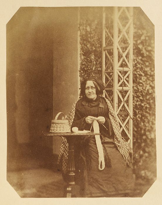 Welsh: Old Woman Knitting / Date: circa 1850s Early Swansea Photography at the National