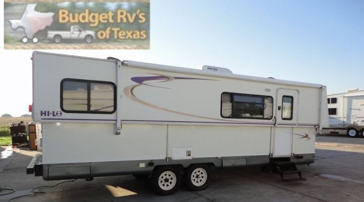 WOW what a great find! The best of a hard side travel trailer and a pop-up camper! When folded this great Hi-Lo is so easy to pull! #traveltrailers
