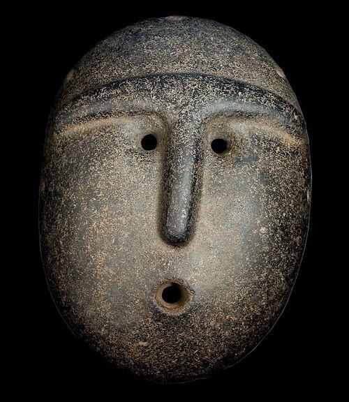 magictransistor:Stone Mask (Amalito Culture), Argentina, c.1000 AD.