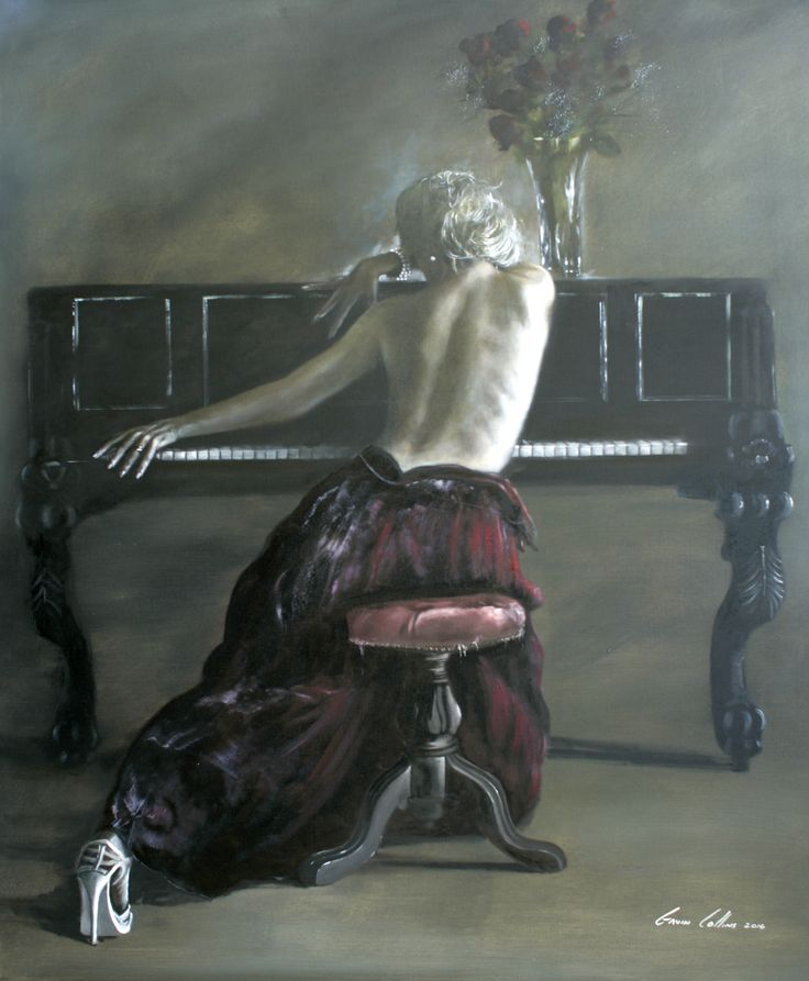 """Gavin Collins oil on canvas """"soulmate"""""""