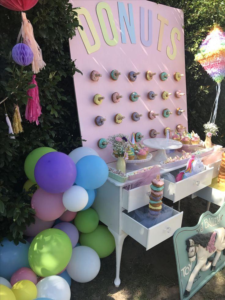 Pastel rainbow unicorn party