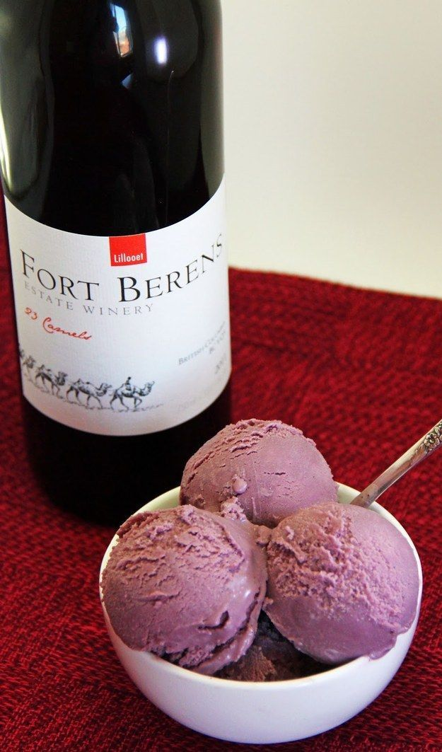 Red Wine Ice Cream | 17 Boozy Ice Creams  Perhaps will try this summer...I do have an ice cream maker to try out. #redwine