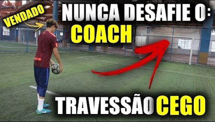 ACERTAR O TRAVESSÃO CEGO!!! - NUNCA DESAFIE O COACH! #1
