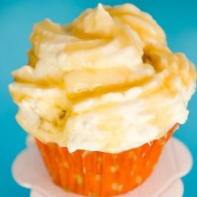 Greek Yogurt Honey Cupcakes ~ These delicious cupcakes are made using Greek yogurt and are topped with honey!
