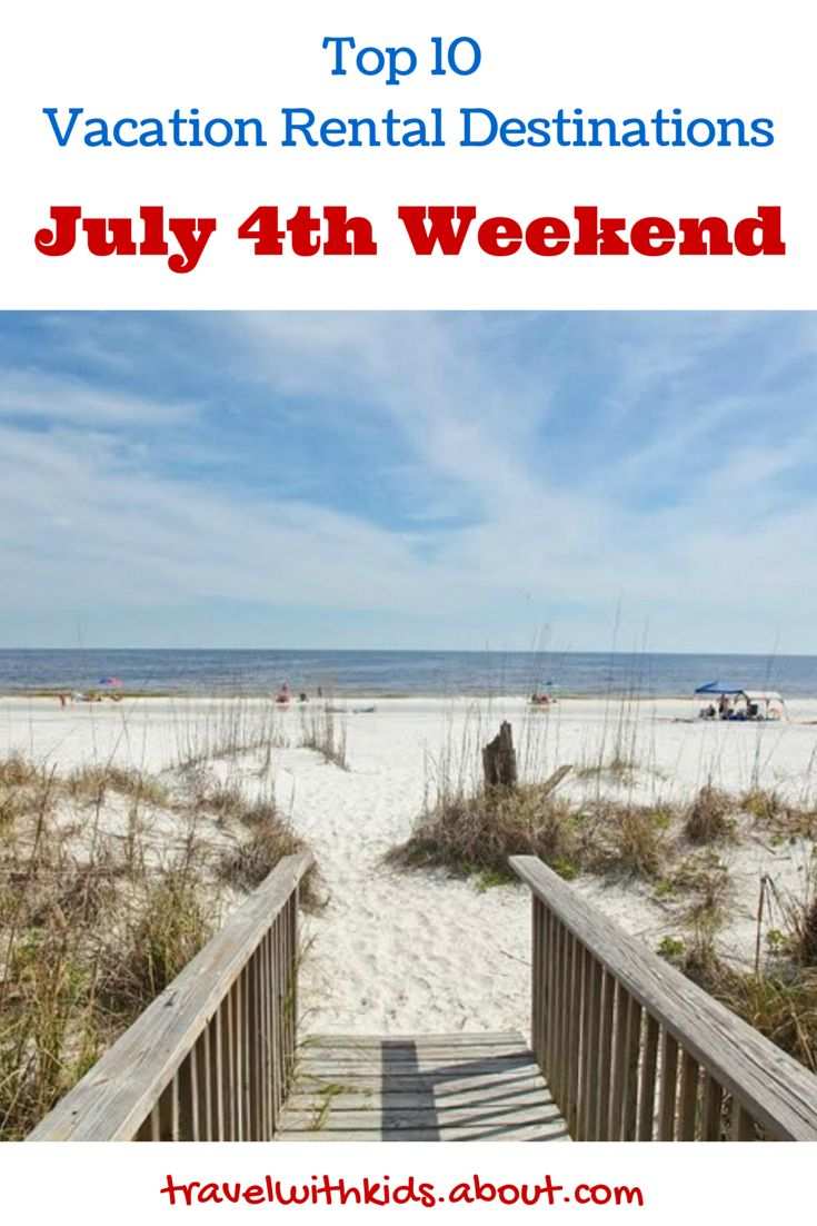 According to HomeAway, here's where people are heading this July 4th weekend.