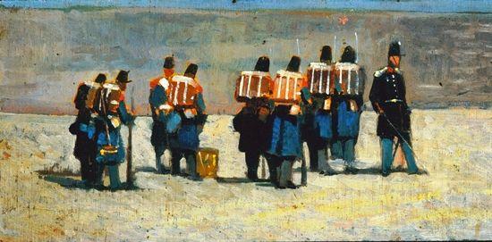 Giovanni Fattori, Soldati francesi del '59, 1859, Collezione privata.