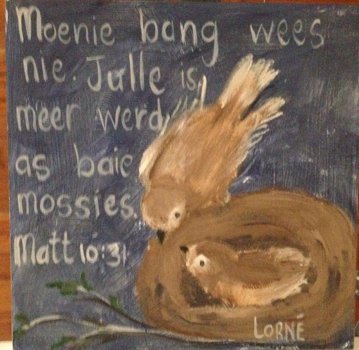 Oil painting- birds