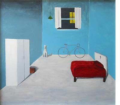 NOEL McKENNA - Boy's Room, Brisbane 1967, enamel on plywood,