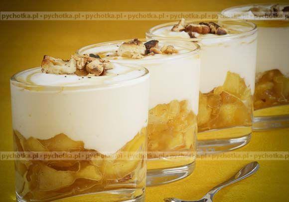 Ananas w kremie twarożkowym
