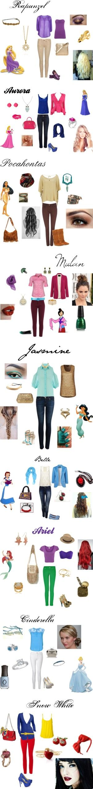 """""""Disney Princess Casual Style"""" by sk8tergirl4194 on Polyvore"""