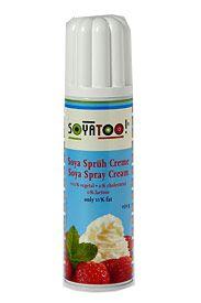 Sojabaserat alternativ till spraygrädde.