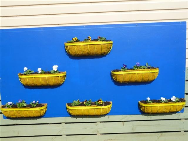 Spray painted baskets