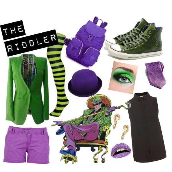 The Riddler by cupcakedalek on Polyvore featuring ASOS, Ermenegildo Zegna, Violent Lips, Converse and riddler