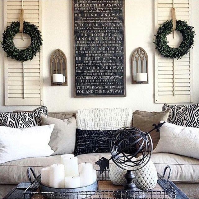 wall decor behind couch | Billingsblessingbags.org