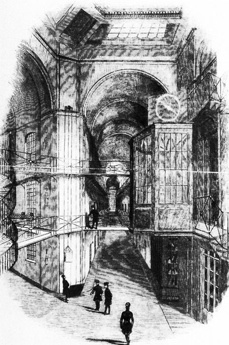 Sir Charles Barry, Pentonville Prison, Interior View From the Hub, London, England, 1841-1842