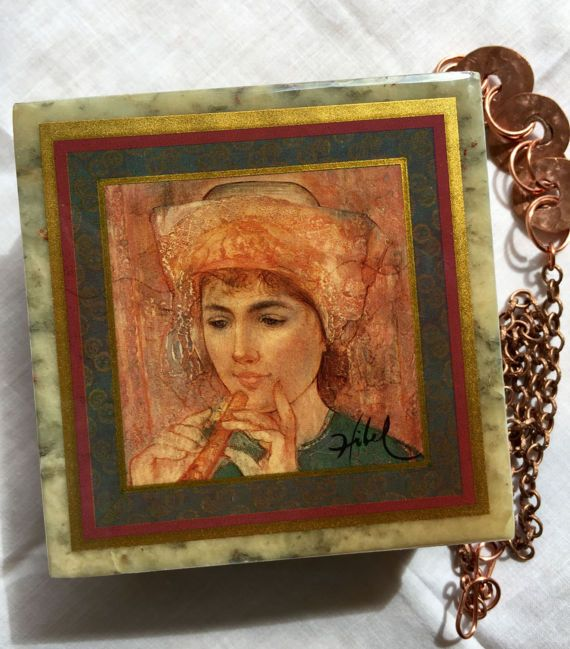Edna Hibel Mable Trinket Box/ Musician on by OnlyForMeJewelry