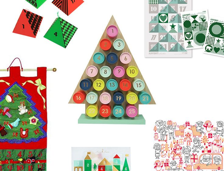 Whether you're a kid counting down to Santa's arrival or an adult counting down to vacation, advent calendars are an excellent way to get into the spirit of the season. Below, some variations on the tradition.