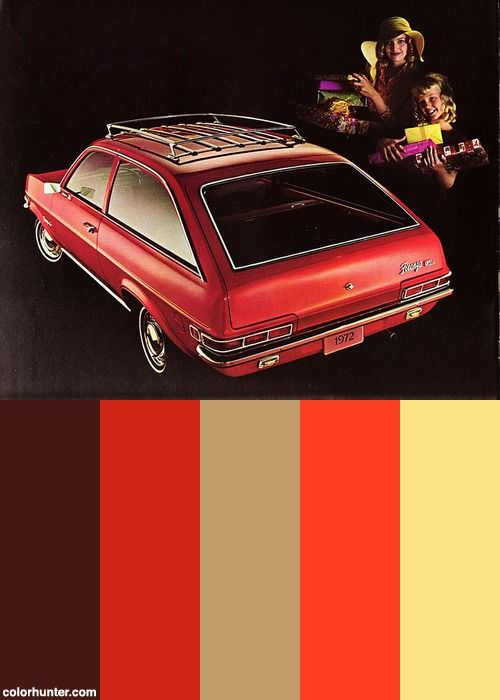 1972 Vauxhall Firenza Sl Station Wagon (canada) Color Scheme
