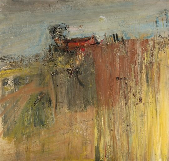 Joan Eardley (British, 1921-1963), Catterline Landscape, 1960. Oil on board, 29½ x 30½ in.