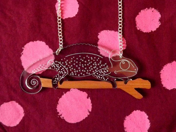 Chameleon Necklace. Hello DODO. George the by designosaurYEAH