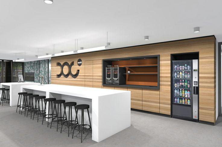 3d rendering, interior, renovated office, reception by Vormkracht 9