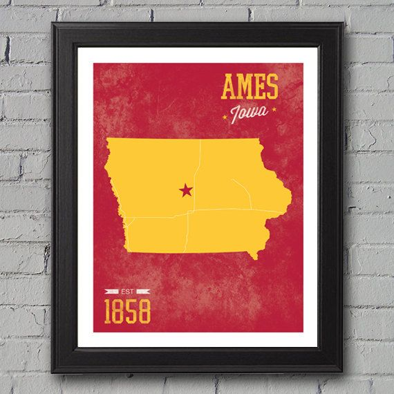 Iowa State University Print by UniversityPrints on Etsy, $12.00