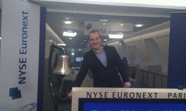 2011: Te gast in Parijs bij de opening van de Franse beurs. De aanleiding was het tienjarig jubileum van de ETF in Europa.