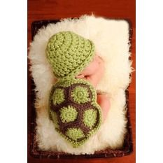 Sunweb Newborn Infant Hat Photography Props Crochet Cosplay Costume Outfits(Green)