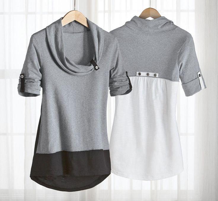 Gute Idee: unten eine alte Bluse drannähen?