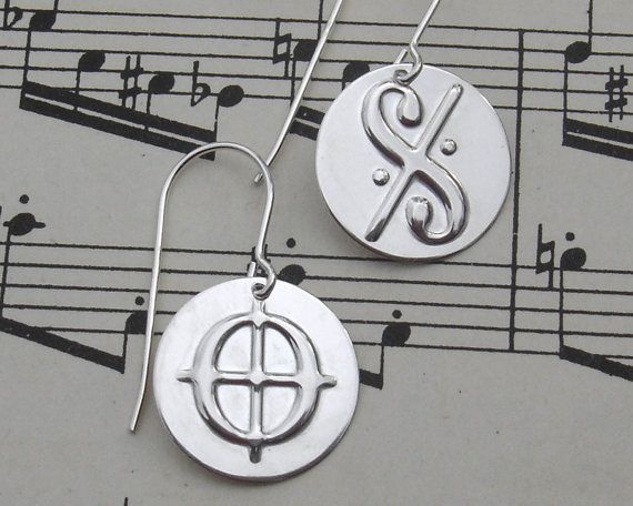 Dal Segno and Coda Music Symbol Sterling by nicholasandfelice, $20.00