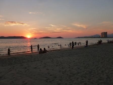 San Carlos Plaza sunset