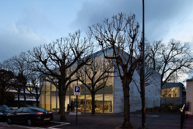 pascale guedot architecte mediatheque media library in bourg-la-reine designboom