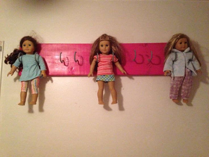 American girl doll wall hanger! Super easy and way cheaper than the AG store ones!