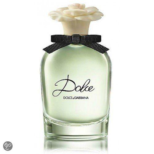 Dolce  Dolce is een zachtaardige, vrouwelijke mix van witte bloemen, geïntroduceerd door de frisheid van neroliblaadjes en gedefinieerd door de witte amaryllis, een Zuid-Afrikaans bloem. Top: Papajabloem, Neroli (Oranjebloesem). Midden: Amaryllis, Narcis, Waterlelie. Basis: Muskus, Cashmeran.