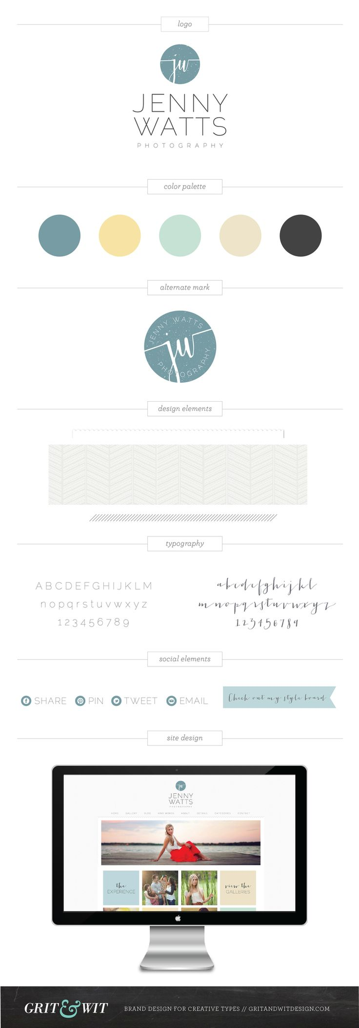 Brand Reveal // Jenny Watts Photography // by Grit & Wit