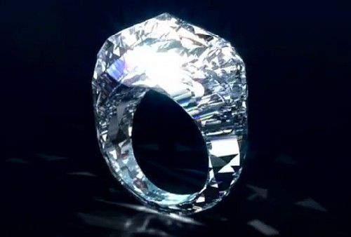 This ring is made of a solid Diamond and goes for 70 million dollars! 150 carats.