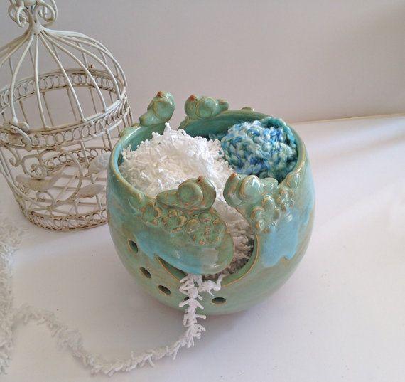 Jumbo Yarn Bowl for Knitting  In stock  4 by IslandGirlPottery