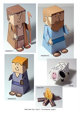 Free printable paper Bible Character Toy
