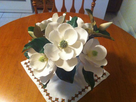 Check out this item in my Etsy shop https://www.etsy.com/ca/listing/253668313/gum-paste-magnolia-buds-white-or-pink